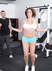 Horny milf Eva Notty with succulent big tits gets fucked by her trainer