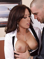 Milf with great big boobs Capri Cavanni gets fucked in the bitch-style lingerie