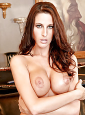 Gorgeous model milf Kortney Kane looks incredible from every side in any pose