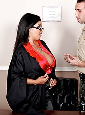 Extremely busty Jaylene Rio gets fucked by lucky man after judicial sitting