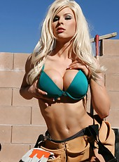 Outdoor scene with a gentle and gorgeous blonde babe Kenzi Marie