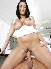 Fantastic scene with a passionate and busty brunette bitch Carmella Bing