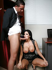 Crazy and hardcore fuck with a pretty bitch Veronica Rayne in the office