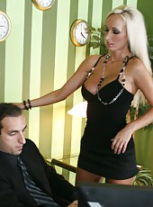 Hardcore fuck with a passionate blonde secretary whose name is Lichelle Marie