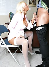 Awesome fuck with a nasty and busty blonde whore Rhyse Richards