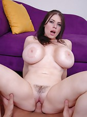 Fair skinned giant boobs by hot milf Daphne Rosen in the hardcore fucking action