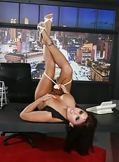 Fabulous brunette milf Eva Angelina willingly opens the secrets of her hot body