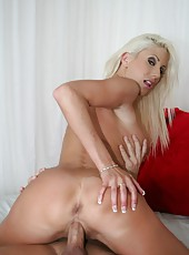 Pure passion with glamorous blonde hottie Puma Swede and pair of big tits