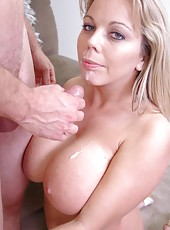 Delicious milf with huge tits Amber Lynn Bach got an unforgettable fuck
