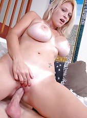 Busty blonde milf with sexy tanlines Charlee Chase pounded in her favorite poses