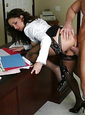 Hot milf Isabella Manelli was restoring order when her ex boyfriend came
