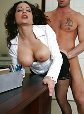 Hot milf Isabella Manelli was restoring order when her ex boyfriend came