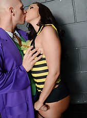 Cocky babe Kelly Divine having fun with a strange guy and getting anally drilled