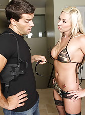 Tatttoed Skylar Price rubbing wet boobs and gets penetrated like all nasty sluts