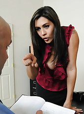 Appealing milf Raylene taking control over her husband and swallowing his dick