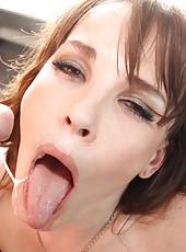 Foxy milf Dana DeArmond gets dirty with her friend and enjoys his huge dagger