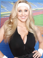 Very nice milf Julia Ann showing juicy tits and fingering on camera