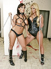 Two true lesbians Ricki White and Phoenix Marie doing bad things to please each other
