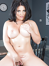 Check out fascinating brunette hottie with big tits and super hot tattooed backside - Casey Cumz
