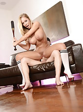 Baseball champion with huge breast and beautiful skin Nicole Aniston seduces her boyfriend