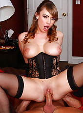 Horny mistress Maya Hills presents an unforgettable night for a lucky stranger
