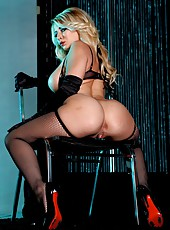 First-class blonde bombshell Madison Ivy teases us in amazingly hot clothes