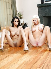 Top-class lesbian babes with model-quality charms Daisy Marie and Kenzi Marie