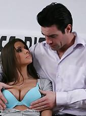 Beautiful babe Rachel RoXXX gets a sperm after a crazy and hot fuck