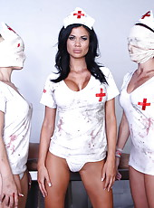 Hardcore fuck with a gorgeous brunette nurse named Jasmine Jae
