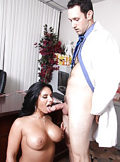 Hardcore action in which busty whore Bella Reese gives a sexy blowjob