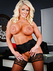 Gorgeous blonde chief medical officer Alura Jenson amazes with her boundless big tits
