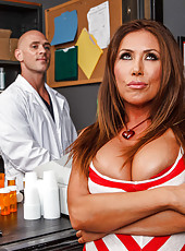 Excellent bombshell with huge breast and appetizing ass Kianna Dior got doctor