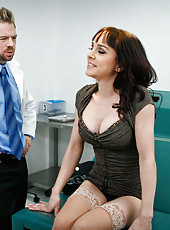 Slutty milf Cytherea came at doctor