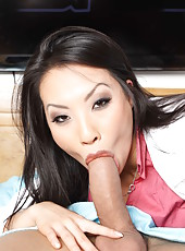 Asian doctor Asa Akira fucks a patient with big cock while his wife sleeps