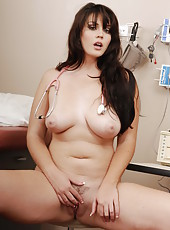 Dulcet big natural boobs and sexy ass presented by brunette doctor Alison Tyler
