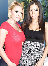 Two sweeties with big tits Krissy Lynn and Yurizan Beltran came to visit their doctor