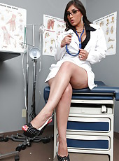 Doctor Alexis Breeze is a super hot milf with shaved pussy and big tits