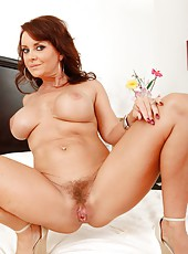 Kinky babe Janet Mason masturbating all day lon and showing yummy boobies
