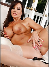 Superb, experienced woman with huge breast Lisa Ann fucked powerfully