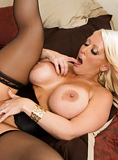 Unmatched cougar Alura Jenson with her super huge boobs having hardcore sex