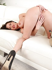 Nice and sexy slut Veronica Avluv undressing and playing with her vagina