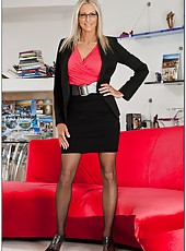 Fucking an astounding blonde business lady with huge breast - Emma Starr
