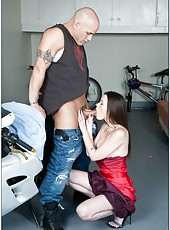 Wonderful Raven Alexis demonstrates her treasures and fucks with a biker