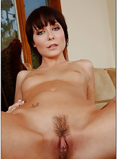 Pretty milf with trimmed pussy Zoe Voss shows off her treasures before fucking