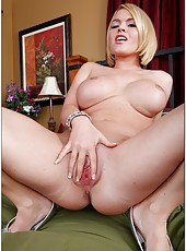 Hot Krissy Lynn is a perfect blonde sweetie with incredibly delicious big tits