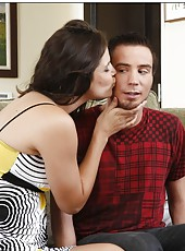 Horny milf Bobbi Starr gets her hairy pussy fucked hard by young boyfriend