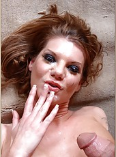 Delicious mature babe Kayla Quinn is being nailed in all of her wet holes