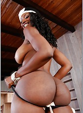 Booty girl Nyomi Banxxx showing marvelous butt and playing with tits