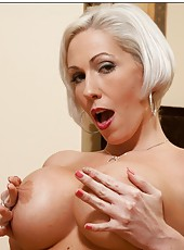 Arresting milf Kasey Grant showing big tits and playing with her sissy