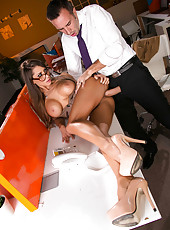 Gorgeous, model-quality bombshell with big tits Madison Ivy fucked by a big dick